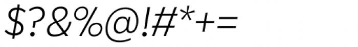 Karu Light Italic Font OTHER CHARS