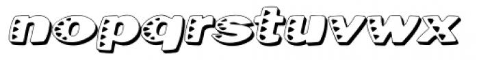 Kassena Shad Wide Italic Font LOWERCASE
