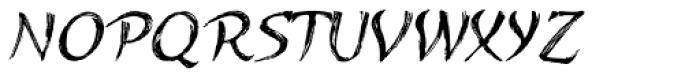 Kasuga Brush One Font UPPERCASE