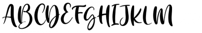 Kataleya Regular Font UPPERCASE