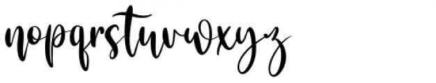 Kataleya Regular Font LOWERCASE