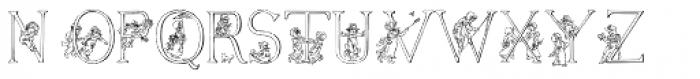 Kate Greenaways Alphabet Font UPPERCASE