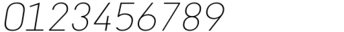 Katerina Alt Thin Oblique Font OTHER CHARS