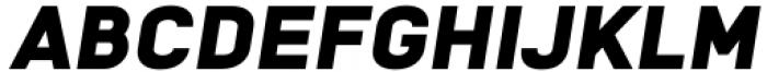 Katerina Black Oblique Font UPPERCASE