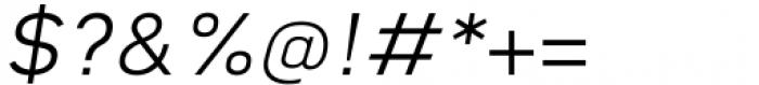 Katerina Light Oblique Font OTHER CHARS