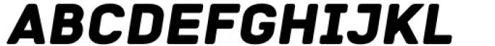 Katerina P Rounded Alt Black Oblique Font UPPERCASE