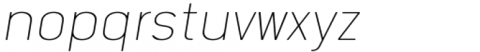 Katerina P Rounded Alt Thin Oblique Font LOWERCASE