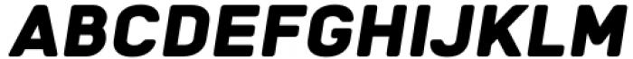 Katerina P Rounded Black Oblique Font UPPERCASE