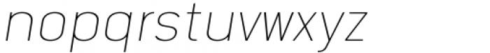 Katerina Thin Oblique Font LOWERCASE