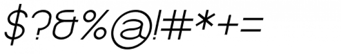 Kathleen Serif Light Italic Font OTHER CHARS