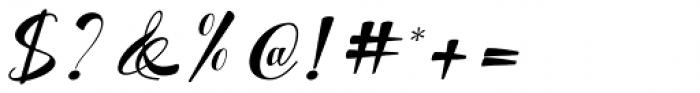 Kattrina Script Regular Font OTHER CHARS