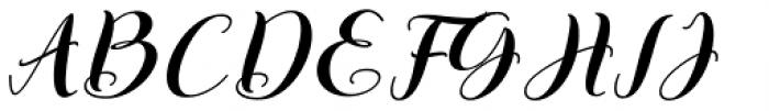 Kattrina Script Regular Font UPPERCASE