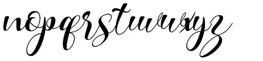 Kattrina Script Regular Font LOWERCASE