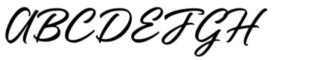 Katy Land Regular Font UPPERCASE