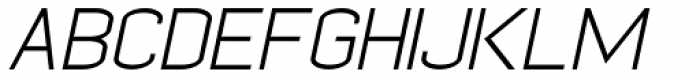 Kayla Sans Light Italic Font UPPERCASE
