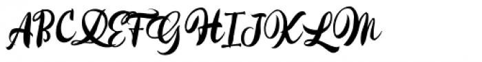 Kayto Script Alternate Two Font UPPERCASE