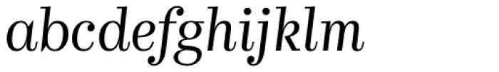 Kazimir Light Italic Font LOWERCASE