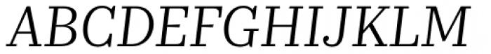 Kazimir Text Book Italic Font UPPERCASE
