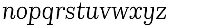 Kazimir Text Book Italic Font LOWERCASE