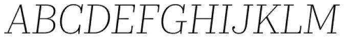 Kazimir Text Extra Light Italic Font UPPERCASE