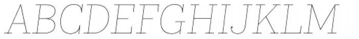 Kazimir Text Hairline Italic Font UPPERCASE