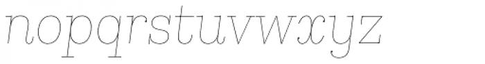 Kazimir Text Hairline Italic Font LOWERCASE