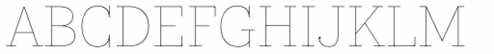 Kazimir Text Hairline Font UPPERCASE