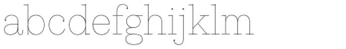 Kazimir Text Hairline Font LOWERCASE