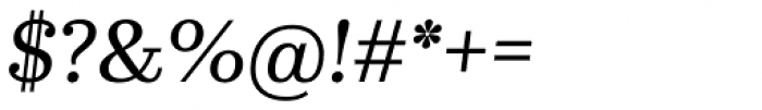 Kazimir Text Italic Font OTHER CHARS