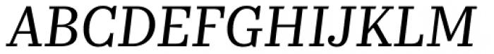 Kazimir Text Italic Font UPPERCASE