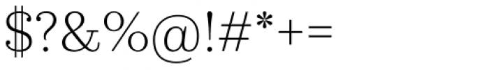 Kazimir Text Light Font OTHER CHARS