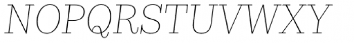 Kazimir Text Thin Italic Font UPPERCASE