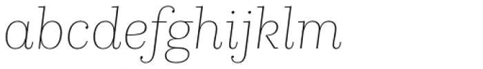 Kazimir Text Thin Italic Font LOWERCASE