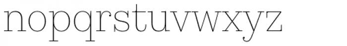 Kazimir Text Thin Font LOWERCASE