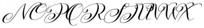 Kazincbarcika Script Font UPPERCASE