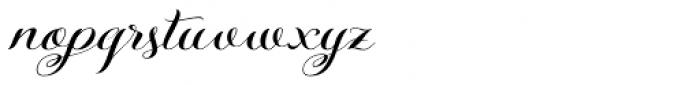 Kazincbarcika Script Font LOWERCASE