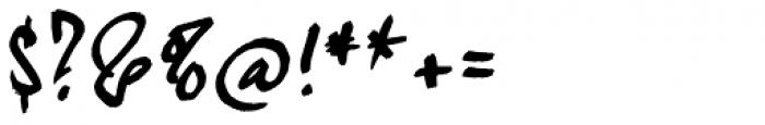 kaliGraff Font OTHER CHARS