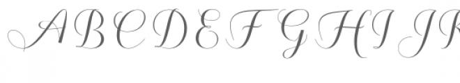 Kalisha Script Font UPPERCASE