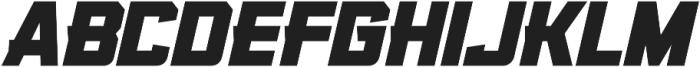 KBSF Edge Heavy Italic otf (800) Font LOWERCASE