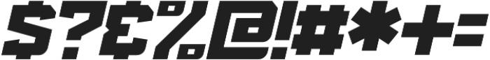 KBSF Edge Ultra Italic otf (900) Font OTHER CHARS