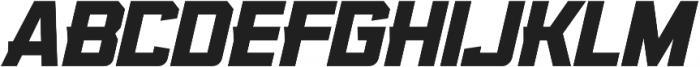 KBSF Edge Ultra Italic otf (900) Font UPPERCASE