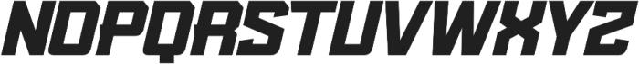 KBSF Edge Ultra Italic otf (900) Font LOWERCASE