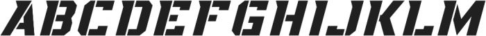 KBSF Special Ops otf (400) Font LOWERCASE