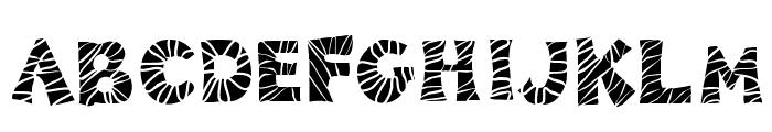 KB3ZebraPatch Font UPPERCASE