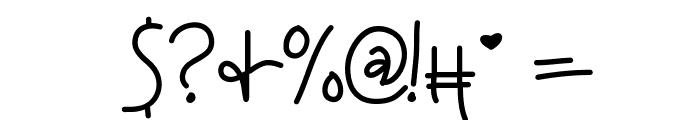 KBAnditslipsmymind Font OTHER CHARS
