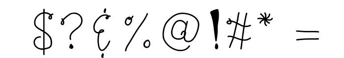 KBBonjourMySweet Font OTHER CHARS