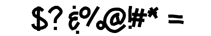 KBCRazYTowN Font OTHER CHARS