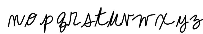 KBCallMe Font LOWERCASE