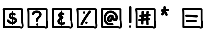 KBChatterBox Font OTHER CHARS