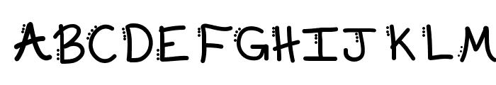 KBDabble Font UPPERCASE